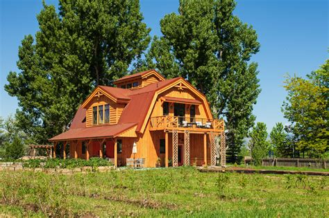 Gambrel Barn Homes elegant barn homes with covered porch and upper deck 1