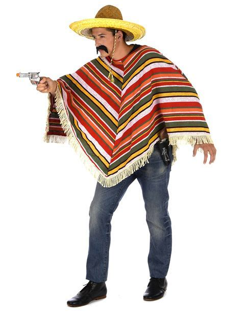 Mexican Poncho for Adults: Adults Costumes,and fancy dress