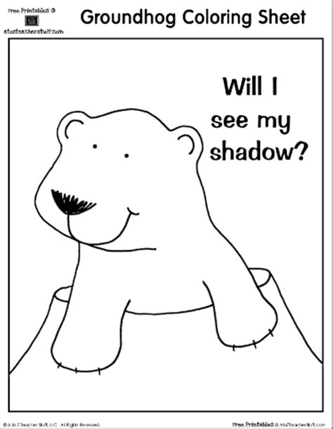 groundhog coloring page printable groundhog day printables new calendar template site
