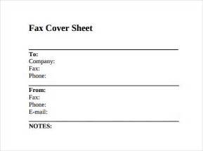 Template For Fax Cover Sheet by Sle Fax Cover Sheet 11 Documents In Pdf Word
