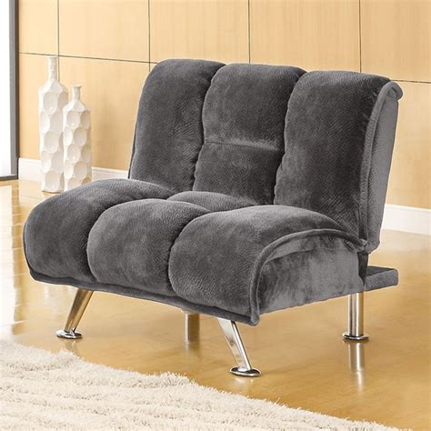 Futon Chair Recliners by Furniture Of America Cm2904gy Ch Marbelle Grey Chion
