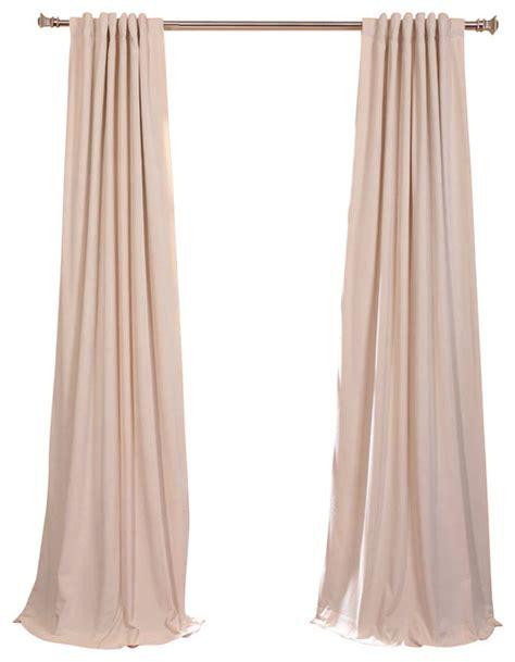 ivory velvet curtains signature ivory blackout velvet curtain single panel