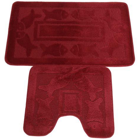 set tappeti da bagno set tappeti da bagno 2 pezzi 9 colori