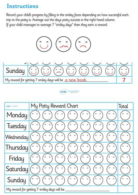 printable reward charts ks1 17 best images about potty training on pinterest charts