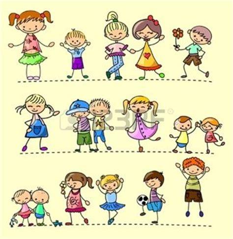 immagini clipart bambini bambini stilizzati imposta bambini felici vettoriali