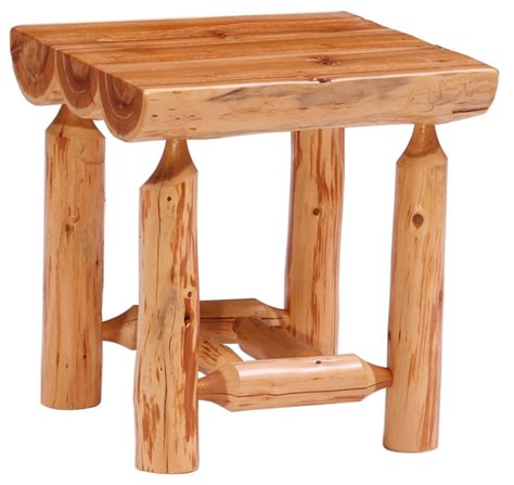 half log end table tlhlt minnesota log end tables