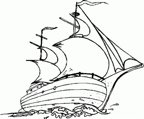 mayflower coloring coloring pages