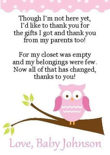 Baby Shower Thank You Poems From Unborn Baby by Baby Shower Thank You Poems From Unborn Baby Thank You Notes