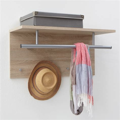 Wall Coat Rack Canada by Spot Canadian Oak Wall Mounted Coat Rack With Shelf For