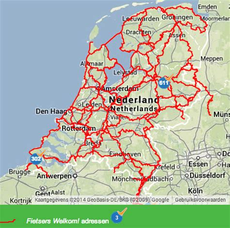 netherlands bicycle map netherlands page 13 lfgss