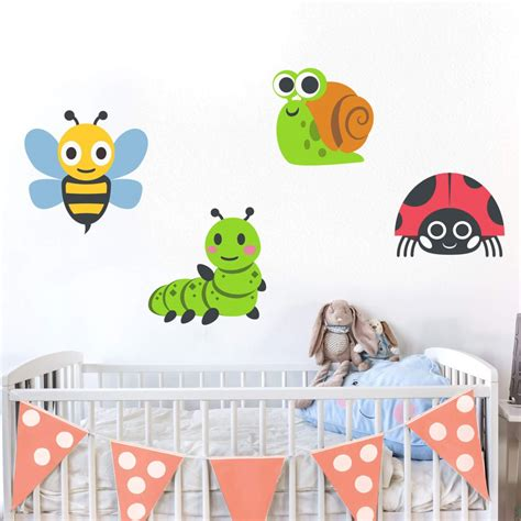 insect wall stickers wall sticker emoji insects wall