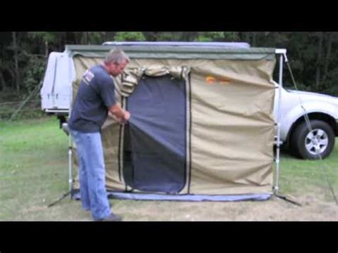 arb awning side walls side walls floor for pull out awning youtube