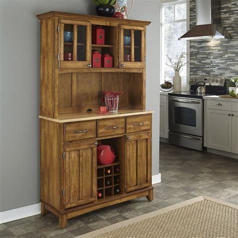 home styles china cabinet shop home styles cottage oak natural china cabinet with