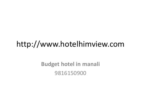 hotels  manali  mall road