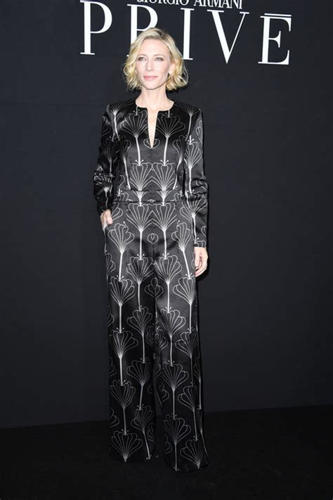 And Cate Blanchett At The Armani Fashion Show by Cate Blanchett At The Armani Priv 233 Show Tom Lorenzo