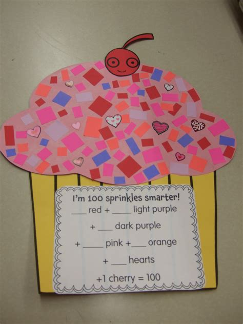 100th day of school craft projects 100th day of school in grade school cupcakes