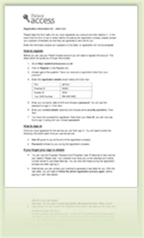 Patient Access Letter Patient Access Sign In