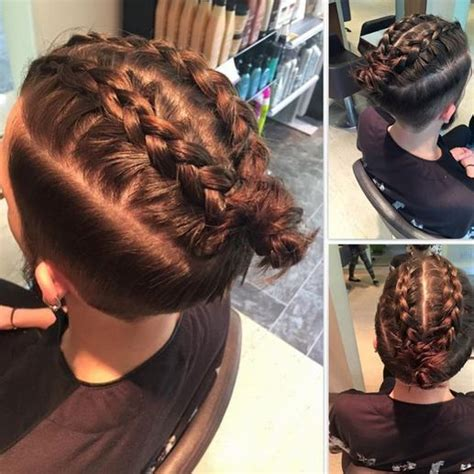 mun hairstyle braided man bun hairstyle pictures cornrows in your mun