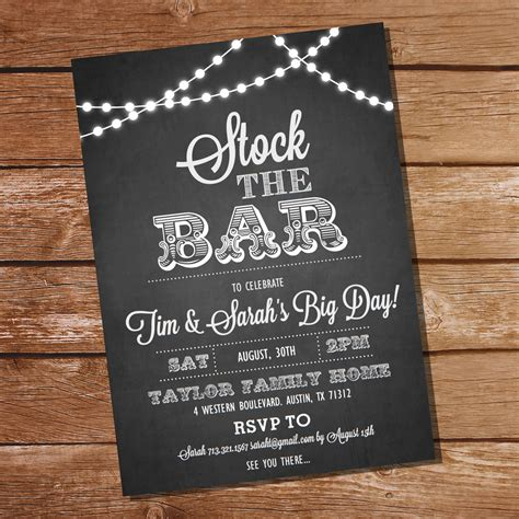 stock the bar invitation templates stock the bar invites futureclim info