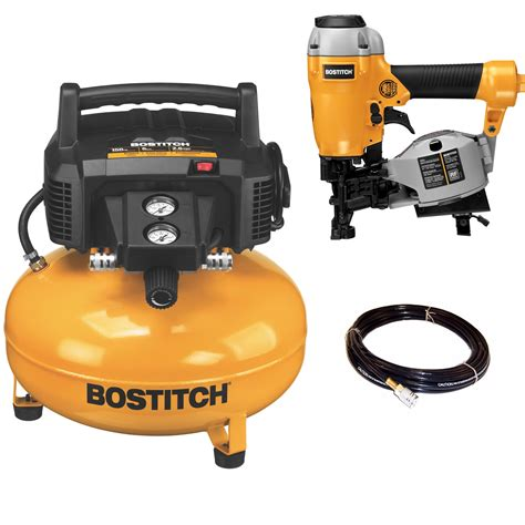 bostitch 6 gal 150 psi free portable pancake air compressor roofing nailer ebay