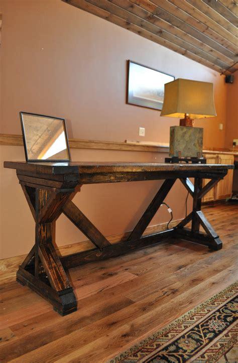 ana white fancy  desk  breadboard top diy projects