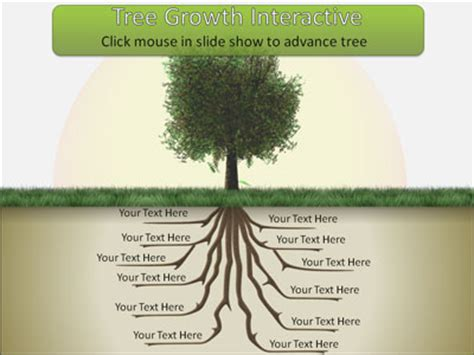 roots template tree root growth a powerpoint template from