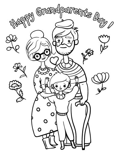 grandparents day coloring pages preschool printable grandparents day coloring page free pdf