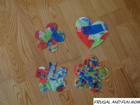 Easy Tissue Paper Crafts - tissue paper mosaic upcycling craft easy child s activity