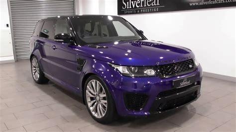 purple range rover range rover sport v8 svr youtube