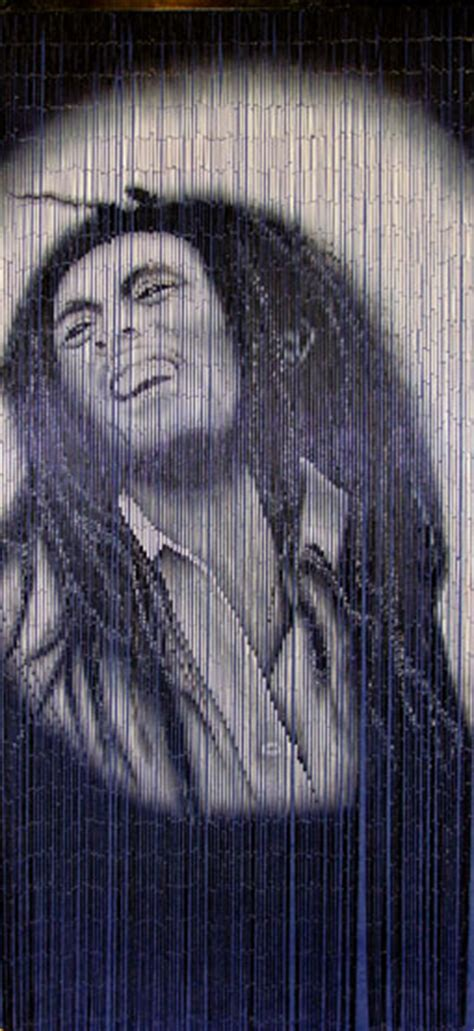bob marley door beads beaded curtains bamboo doorway beads with bob marley