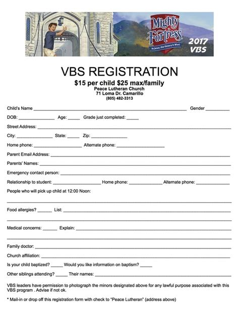 vbs registration card template list of synonyms and antonyms of the word vbs registration