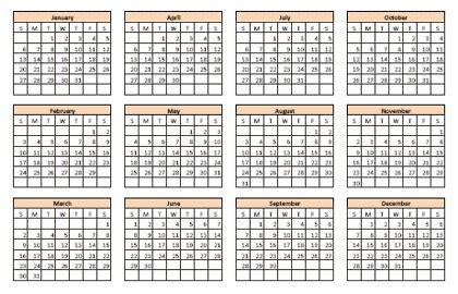 any year calendar template microsoft calendar calendar template 2016