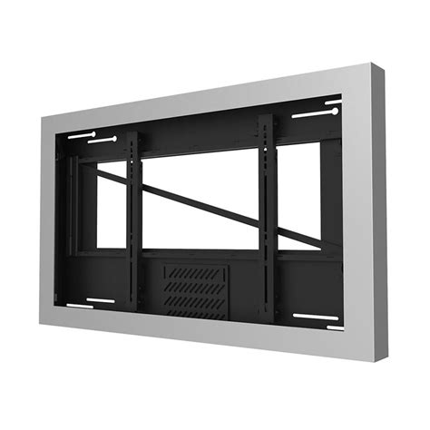 Jk Fixed Wall Screen 80 Inci Silver peerless kil646 s silver indoor landscape wall kiosk enclosure for 46 quot screens