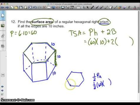 How To Make A Hexagonal Prism Out Of Paper - regular hexagonal prism surface area