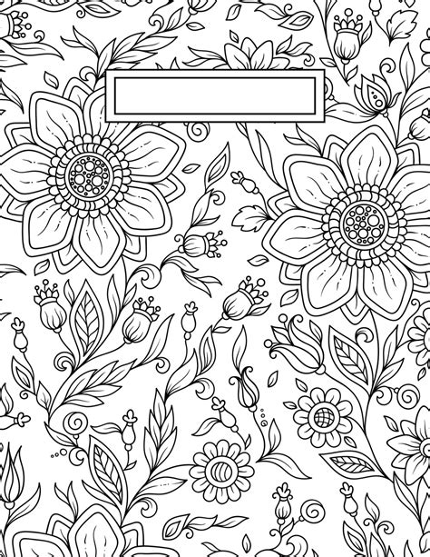coloring pages wall art back to school binder cover adult coloring pages school