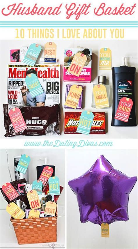 Husband Gift Basket: 10 Things I Love About You   Gift