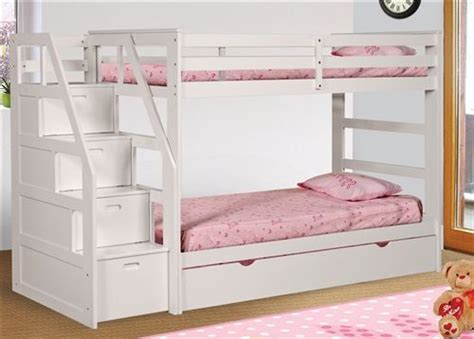 girl bunk beds with stairs best 25 white bunk beds ideas on pinterest built in