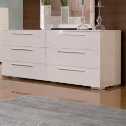Chico double dresser in white lacquer modern dressers chests and