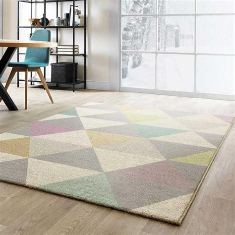 Tapis Pastel tapis moderne de salon multicolore pastel aux formes