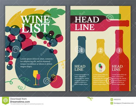 wine brochure template 5 best agenda templates