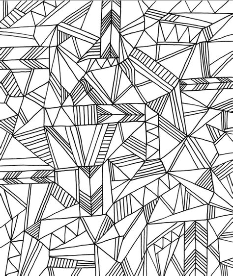 printable geometric coloring pages  adults