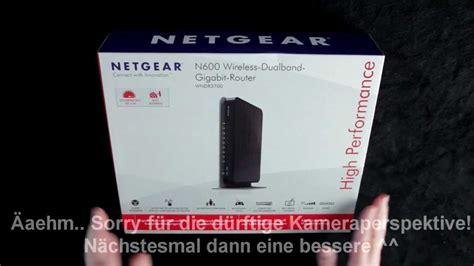 netgear wndrv mbit dualband wireless  gigabit router unboxing german netgear