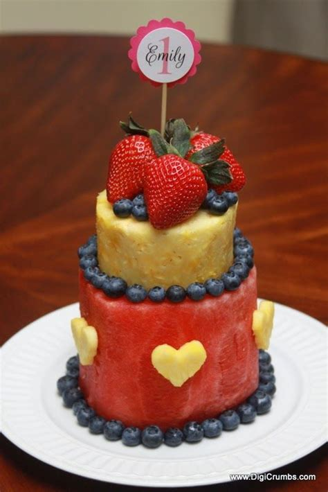 How To Make A Birthday Cake Out Of Paper - 25 best ideas about fruit birthday cake on