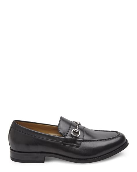 black cole haan loafers cole haan maxwell bit loafers in black for lyst
