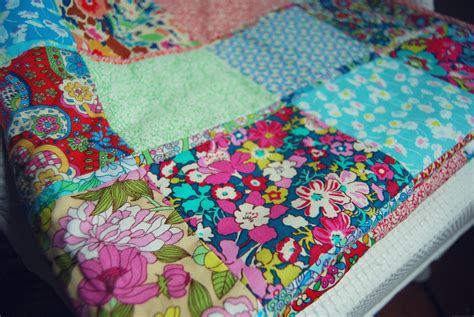 Patchwork Images - liberty lifestyle baby patchwork blanket