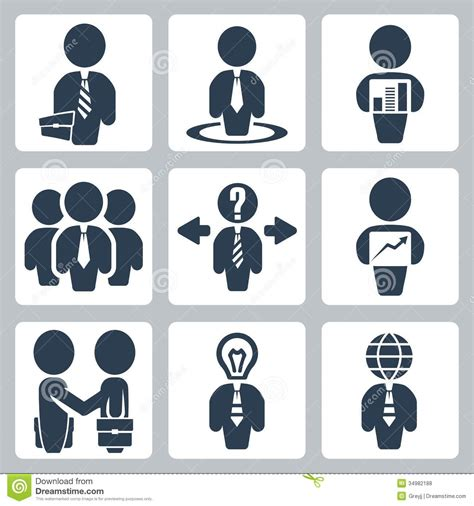 vector business icons set royalty free stock photos image 1095468 vector businessman icons set stock vector illustration of conference 34982188