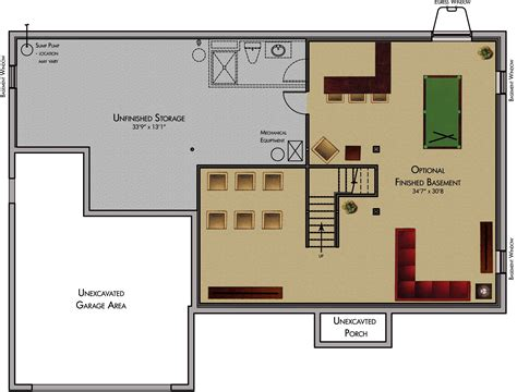basement floor plans fresh basement floor plan design software 9634