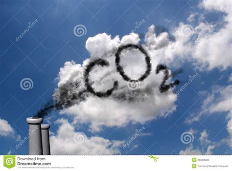 Tropical House Plans by Co2 Pollution Stock Photo Image 25658000