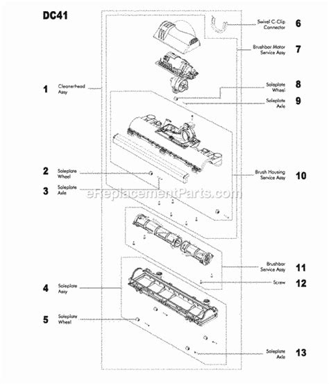 dyson animal parts diagram dyson dc41 parts list and diagram ereplacementparts