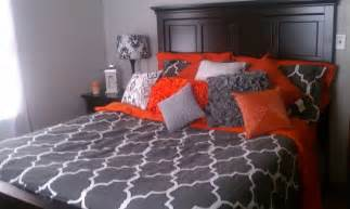 gray and orange bedroom grey orange and white bedroom for the home